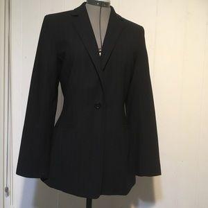 Ann Taylor black/gray pencil stripes suit size10